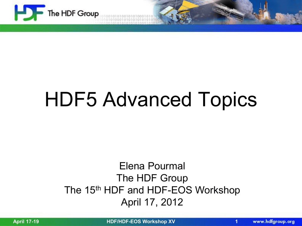 Advanced_HDF5_WS15 - HDF-EOS Tools and Information