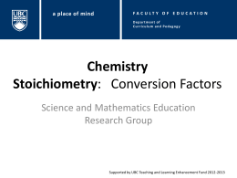 Conversion Factors I