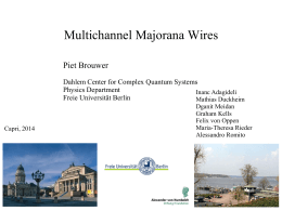 Multichannel Majorana Wires