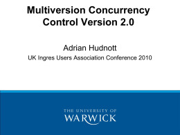 Multiversion Concurrency Control Version 2.0