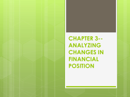 CHAPTER 3--ANALYZING CHANGES IN FINANCIAL POSITION