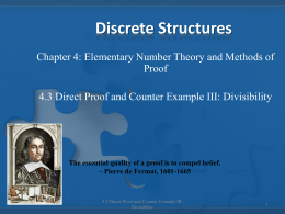 4.3 Direct Proof and Counter Example III: Divisibility