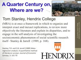 Presentation - Meta-Analysis of Economics Research Network