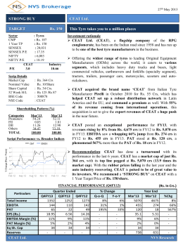 Research Report on CEAT Ltd.
