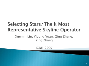 Selecting Stars: The k Most Representative Skyline Operator
