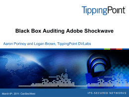 Black Box Auditing Adobe Shockwave