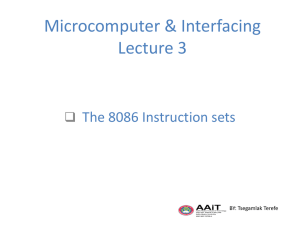 Microcomputer & Interfacing L3 - Electrical and Computer Engineering