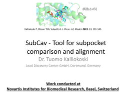 SubCav - Tool for sub-pocket comparison and alignment