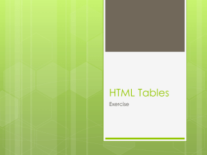 HTML - Tables as Layout