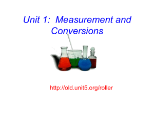 PPT: Measurement and Conversions