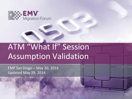 ATM WC Validation of Assumptions – May 2014