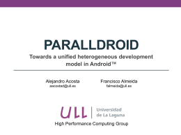Paralldroid - High Performance and Automatic Computing