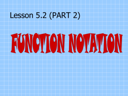 Functional Notation