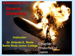 CH 5 CHEM1A GASES - Santa Rosa Junior College