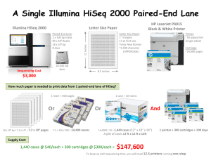 A Single Illumina HiSeq 2000 Paired-End Lane Letter