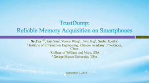 TrustDump: Reliable Memory Acquisition on Smartphones