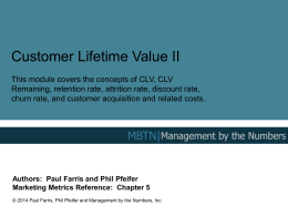 CLV - Management By The Numbers