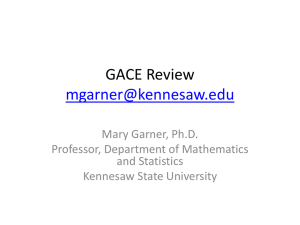 GACE Review - Kennesaw State University College of Science and