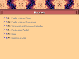 Parallel lines and Transversals.ppt
