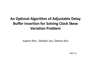 An Optimal Algorithm of Adjustable Delay Buffer Insertion for Solving