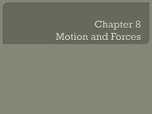 Chapter 8 Motion and Forces