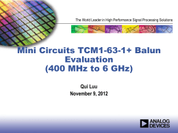 MiniCircuits New Balun Evaluation2