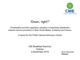 """Down, right?"" Privatisation and the regulatory"