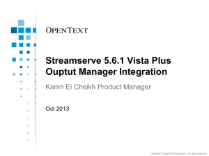 What*s new in StreamServe 5.6 - Stream Share