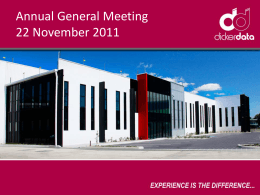 Annual General Meeting Presentation Slides