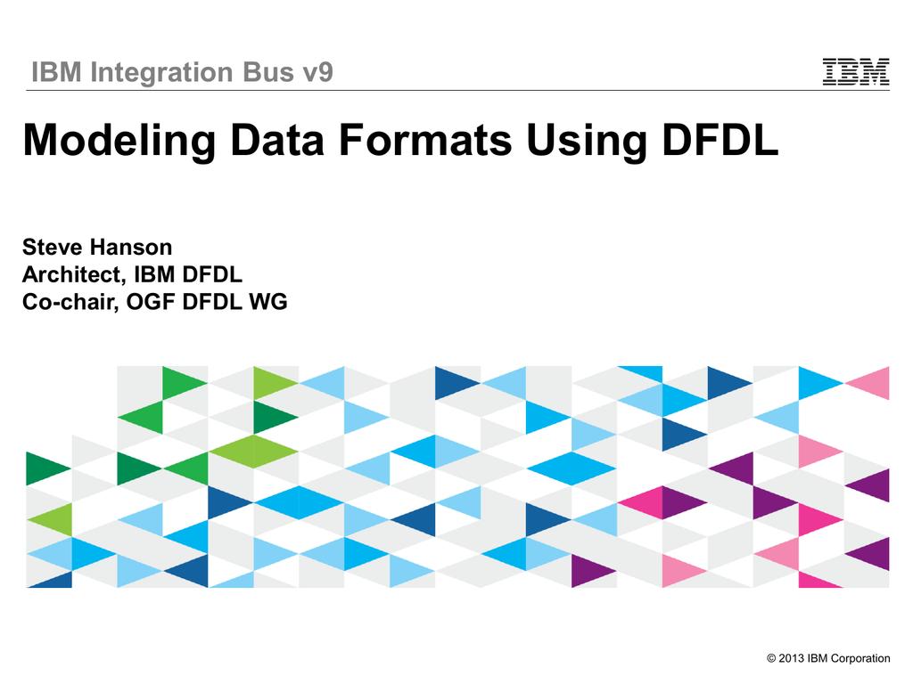 Modeling Industry Data Formats