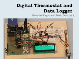 Digital Thermostat and Data Logger