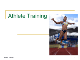 Athlete Training