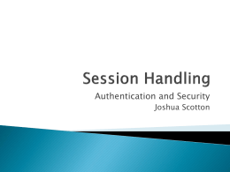 Session Handling - JoshuaScotton.com