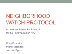 Neighborhood Watch Protocol