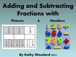 Adding and Subtracting Fractions (ppt)