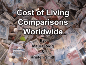 What is cost of living? - costoflivingcomparisonsworldwide