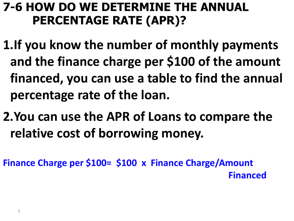 find the finance charge per 100