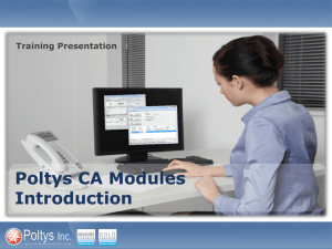 CA Modules Installation and Licensing Training Presentation
