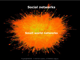 32 Small world networks