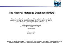 The 2007 HMDA Data