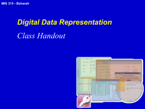 Digital Data Representation Handout v2 - MIS315-05