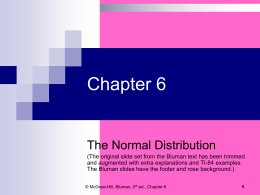 6.1 Normal Distributions