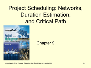 Project Scheduling: Networks, Duration Estimation, and