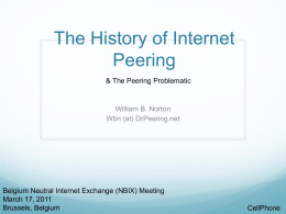 The History of Peering