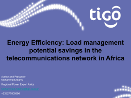 Energy Efficiency: Load management potential savings in