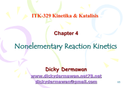 Nonelementary Reaction Kinetics - Dicky Dermawan