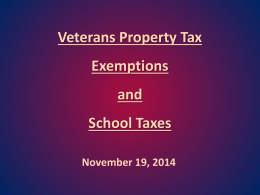 Veterans` Exemption Powerpoint Presentation