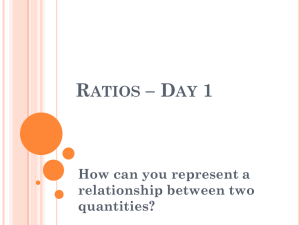 Ratios, Rates lessons condensed