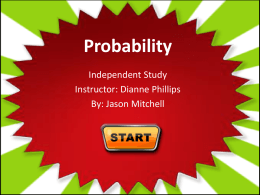 Probability with Starbursts