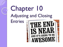 closing entries. - Mrs. Radlick`s Website
